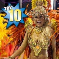 Top 10 - Rainhas de Bateria do Carnaval 2012
